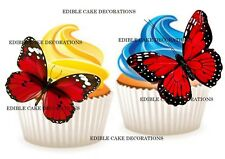 24 Butterflies Butterfly Stand up Cupcake Cake Topper Edible Paper Decorations