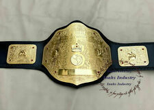 BIG GOLD WORLD HEAVYWEIGHT CHAMPIONSHIP WRESTLING ADULT SIZE REPLICA BELT