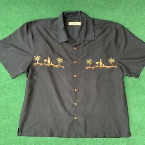 Island Republic Palm Tree, Margarita & Tequila Embroidered Men's Shirt SZ XXL