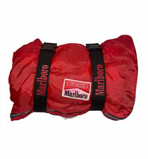 Vintage Marlboro Unlimited Sleeping Bag Camping Red Check Flannel