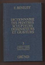 Arte+BENEZIT DICTIONNAIRE.PEINTRES,SCULPTEURS,Dessin.Graveurs.-Vol.3°-Grund 1976