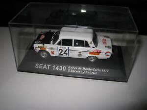 1.43 SEAT 1430 RALLY de MONTE CARLO 1977 #24 SERVIA / SABATER   UNBOXED