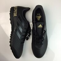 Adidas Predator 19.4 TF Turf Soccer Shoes Black Gold Men's Size 13 F35635 NEW
