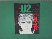 Vintage - BACK PATCH  JACKETS  - U2  WAR  - Original 80'   Cm. 26x32x36