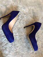 LK Bennett Sledge Cobalt Blue Suede Stilettos - UK Size 5.5 / 38.5