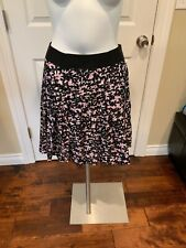 Milly Pink & Black Pleated Silk Skirt, Size 2, New!