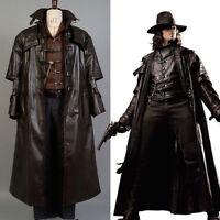 Abraham Van Helsing Hunter of Monsters Cosplay Costume Vampire Hunter Outfit