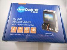 clearDash HD X-3000 Car DVR HD Dash Camera, 8 GB Memory Card, BRAND NEW