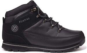 Firetrap Men Rhino Boots Black High Top Lace Up Shoes UK 7.5/7