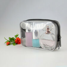 Clear Transparent Case Cosmetic Makeup Zipped Bag Toiletry Travel Portable FAEK