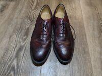 Johnston & Murphy Aristocraft Burgundy Leather Wingtip Oxford Shoe Size 12 D/B