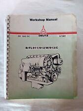 Deutz Special Equipment Catalog Shop Tools 111983 Free Shipping