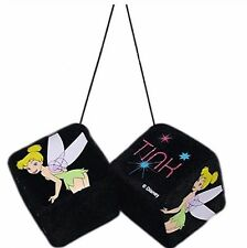 Disney Tinkerbell Pink Tink Rear View Mirror Fuzzy Dice Car Toyz FREE Shipping!