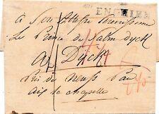 Lettre Marque Enghien val D'oise pour Dyck Aix la Chapelle Brief Cover
