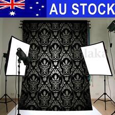 AU 5x7FT Retro Black Damask Wall Photography Backdrop Studio Photo Background
