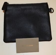 NWT Burberry Leather Pouch/Cosmetic Case Black