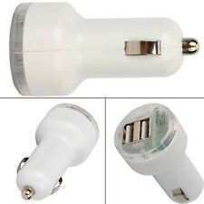 chargeur voiture - Allume cigare Double USB 2100mA Blanc - tout USB,iPad iPhone