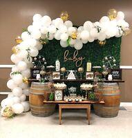 DIY White Balloon Arch Frame Kit + Column Water Base Stand Wedding Party Decor
