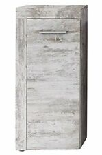 Cancun Shabby Chic Canyon Pine Vintage Bathroom Furniture Side Cabinet White