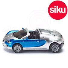 Siku 1353 Jouet Bugatti Veyron Grand Sport Convertible Voiture de - Argent/Bleu