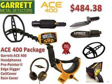 Garrett Ace 400 Metal Detector w/Pro-pointer Ii Pinpointer, Edge Digger,