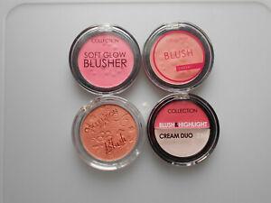 Collection 2000 Blusher Blush Pressed Powder Make Up 4g. Choose your Shade