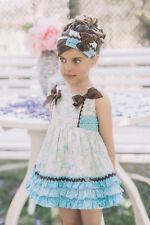 Vestido de niña Dolce Petit color azul y verde -  Dolce Petit -  verano