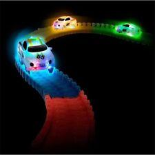 2pcs LED Cars for MAGIC TRACKS Glow in the Dark LED LIGHT CAR RACE Racetrack UK