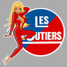 LES ROUTIERS STICKER PINUP CAMION TRUCK SEXY GIRL 9cm AUTOCOLLANT PC219