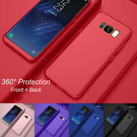 For Samsung Galaxy S8 / S8 Plus 360° Shockproof Case Cover + Tempered Glass