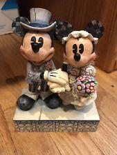 Disney Jim Shore Mickey & Minnie CONGRATULATIONS Bride & Groom #4013988 Enesco