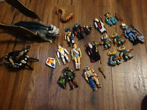 Vintage LJN dungeons and dragons figures collection