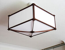 Japanese style lamp shade. Large, Plain paper screens, Dark frame