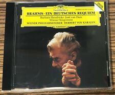 CD Brahms EIN DEUTCHES REQUIEM Hendricks / van Dam HERBERT VON KARAJAN