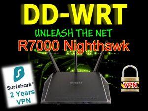 Netgear R7000 Nighthawk OpenVPN WIFI VPN Router DDWRT + 2 Years SurfShark