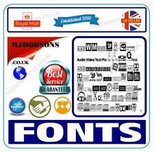 More details for 120,000 royalty free fonts for web design emails artwork word presentations