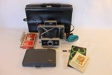 Vintage Polaroid Automatic 330 Land Camera With Case and Accessories S02