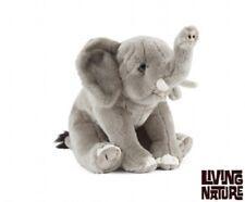 Living Nature AN332 suave Peluche Elefante Sentado Peluche Peluche Juguete Realista