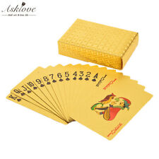 Gold Plastic Waterproof Cards Golden Playing Cards 24K Plated Gold Foil Poker