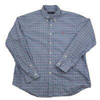 Ralph Lauren Mens Cotton Long Sleeve Plaid Button Down Shirt Size XL