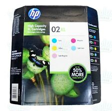 5pk Genuine HP 02XL Colors Ink Photosmart 3110 C5140 C5150 C6100 8250 D7260