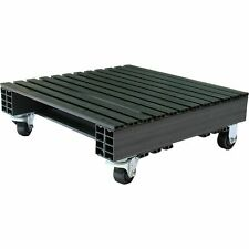 Jifram 05000246 Recycled Plastic Pallet With Casters-24in.x24in.