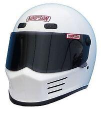 Simpson Street Bandit Casco Snell M2015 Blanco Brillante M MEDIANO 58cm 7 1/4