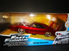 Fast e Furious 6 Diecast Model 1/24 1969 Dodge Charger Daytona Red Jada Toys