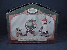 Hallmark Collector's Club 2001 Ornaments Lettera, Globus and Mrs. Clause Set Iob
