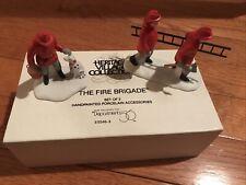 New Dept 56 Heritage Village The Fire Brigade - 5546-8, Set of 2