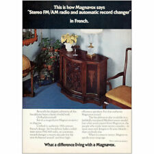 1973 Magnavox: Stereo FM AM Radio Record In French Vintage Print Ad
