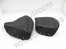 NEW ROYAL ENFIELD FRONT AND REAR COMPLETE SEAT COVER SET BLACK #RE102