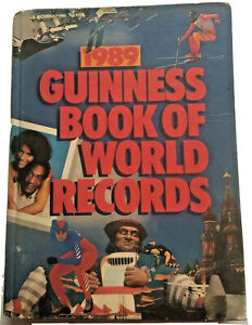 Guinness Book Of World Records hardback vintage color picture 1989 edition