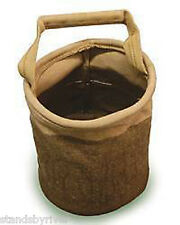 """Collapsible canvas Water Bucket  8"""" x 10"""" Rendezvous Camping Gear"""